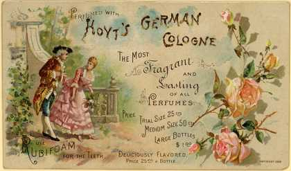 E. W. Hoyt & Co.'s cologne – Perfumed With Hoyt's German Cologne