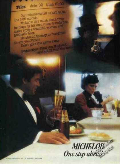 """Michelob """"One Step Ahead"""" Clever Beer (1982)"""