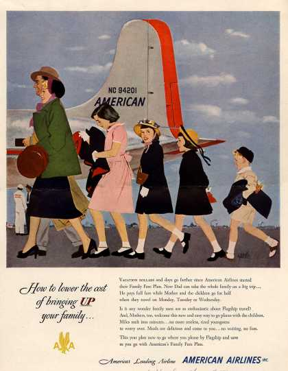 American Airlines – How To Lower the Cost of Bringing Up Your Family... (1950)