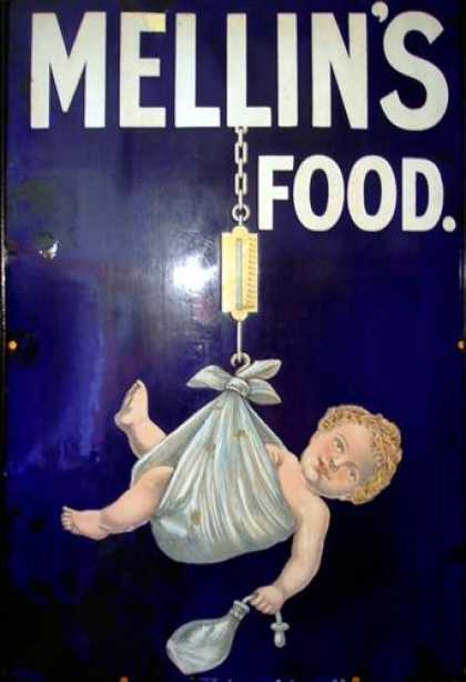 Mellin's Baby Food Sign