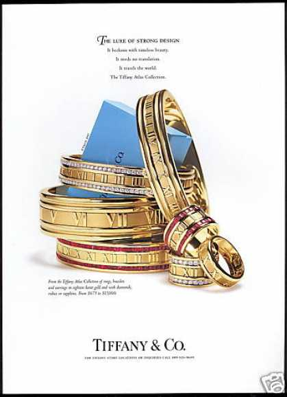 Tiffany & Co Atlas Collection Jewelry (1997)