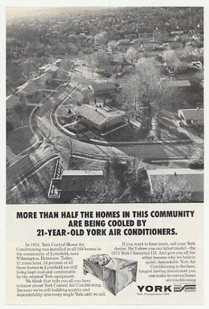 Lynnfield Delaware York Air Conditioning Photo (1973)