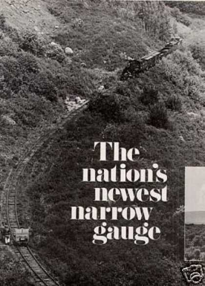 """""""Nation's Newest Narrow Gauge"""" Article/c&ts (1971)"""