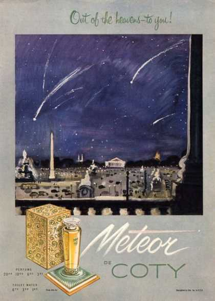 Meteor De Coty Perfume Out of the Heavens (1951)