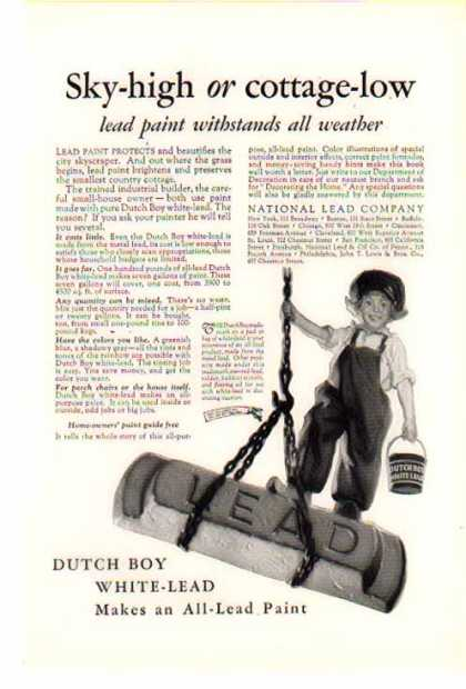 Dutch Boy – Save the Surface and you save all – Sold (1926)
