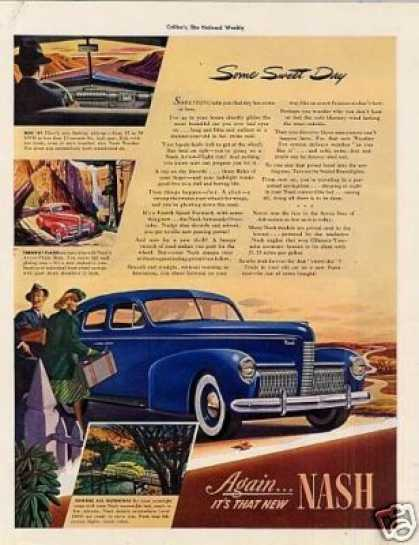 """Nash Car Ad """"Some Sweet Day... (1940)"""