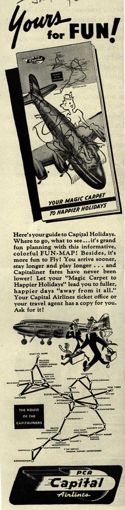 PCA Capital Airline's Fun-Map – Yours for Fun (1946)
