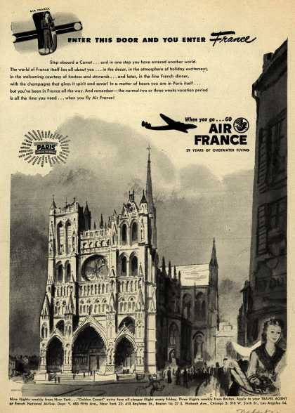 French National Airline's Air France – Enter This Door And You Enter France (1948)