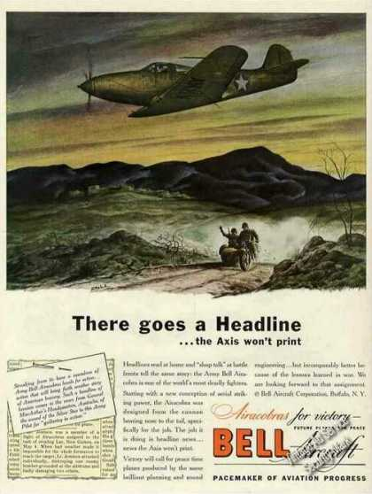 Wwii Army Airacobra Art Bell Aircraft (1943)