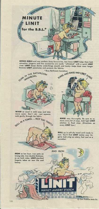 Lint Perfect Laundry Starch (1944)