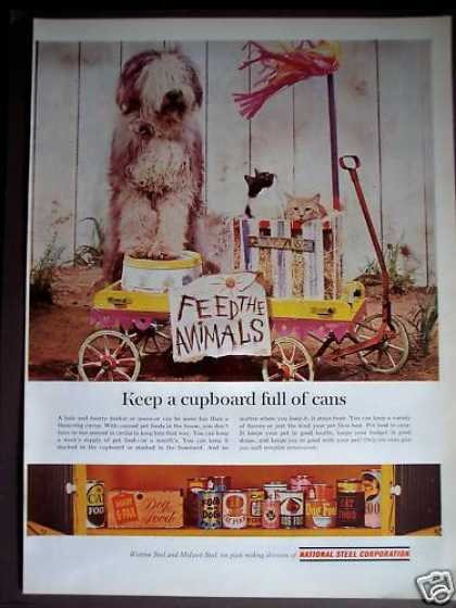 Cat & Dog Pet Food In Cans National Steel Corp (1963)