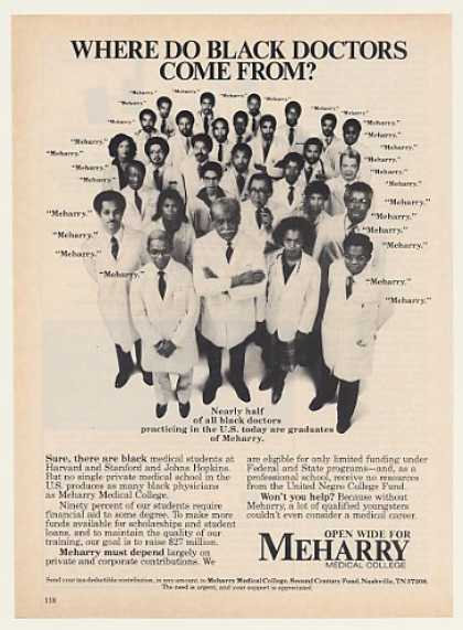 Black Doctors Come From Meharry Medical College (1983)