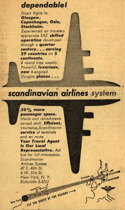 Scandinavian Airlines System's Dependability – Dependable (1947)