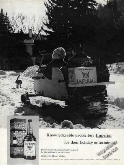 """Imperial Whiskey On Snowmobile """"Knowledgeable"""" (1962)"""