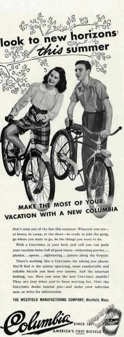 Columbia Bicycles Photo Westfield Ma (1946)