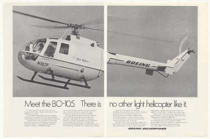 Boeing BO-105 Helicopter Photo (1970)