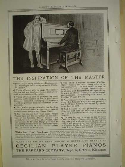 Farrand Co Cecilian Player Pianos AND The Howard Watch Co Boston (1909)