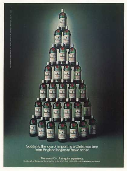 Tanqueray Gin Bottles Christmas Tree (1983)
