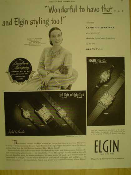 Elgin Watches Wonderful to have that and Elgin Styling too (1949)
