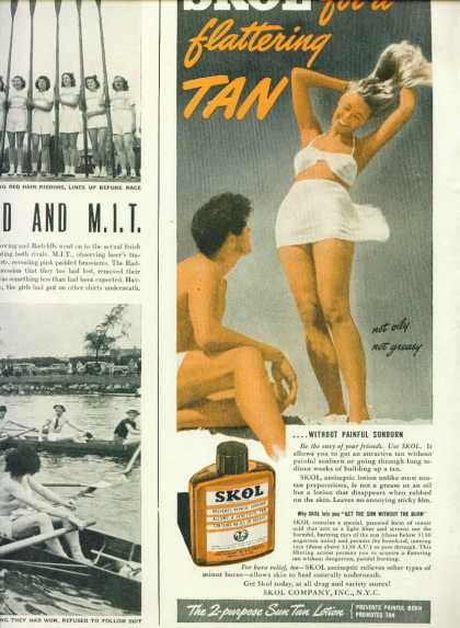 Skol for a Flattering Tan C 1/2 Page (1950)