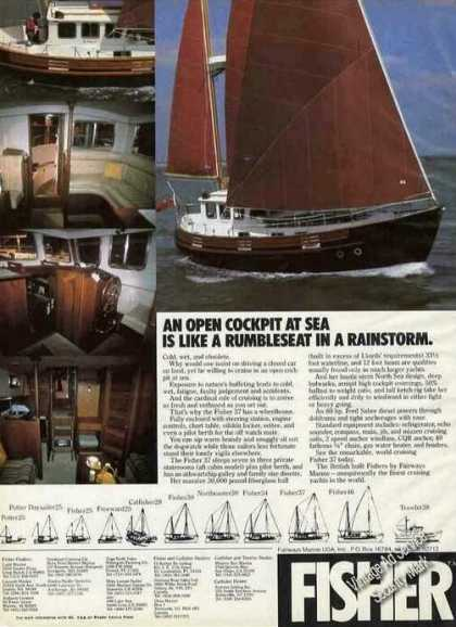 """Fisher 37 Boat Photos """"Rumbleseat In Rainstorm"""" (1978)"""
