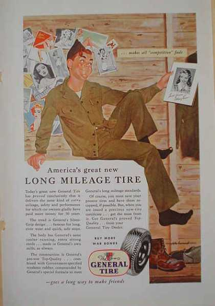 The General Tire Long Mileage tire Military theme (1941)