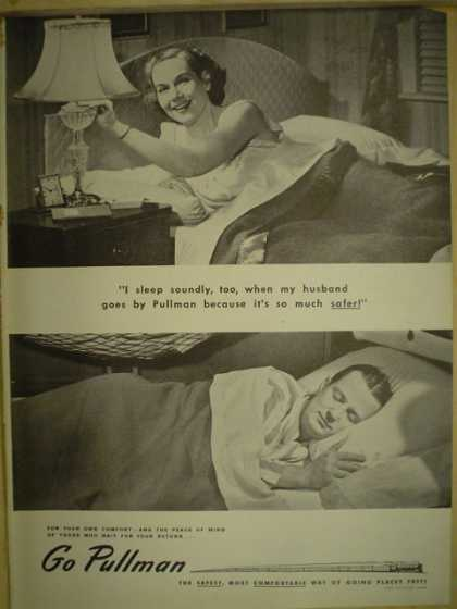 Pullman Rail cars. The safest most comfortable (1946)