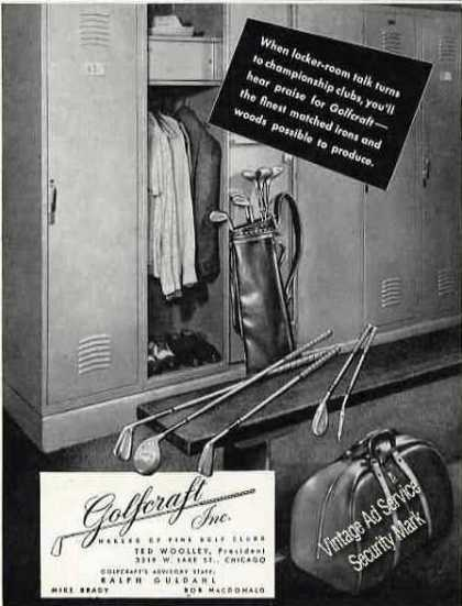 Golfcraft Matched Irons & Woods Photo (1946)