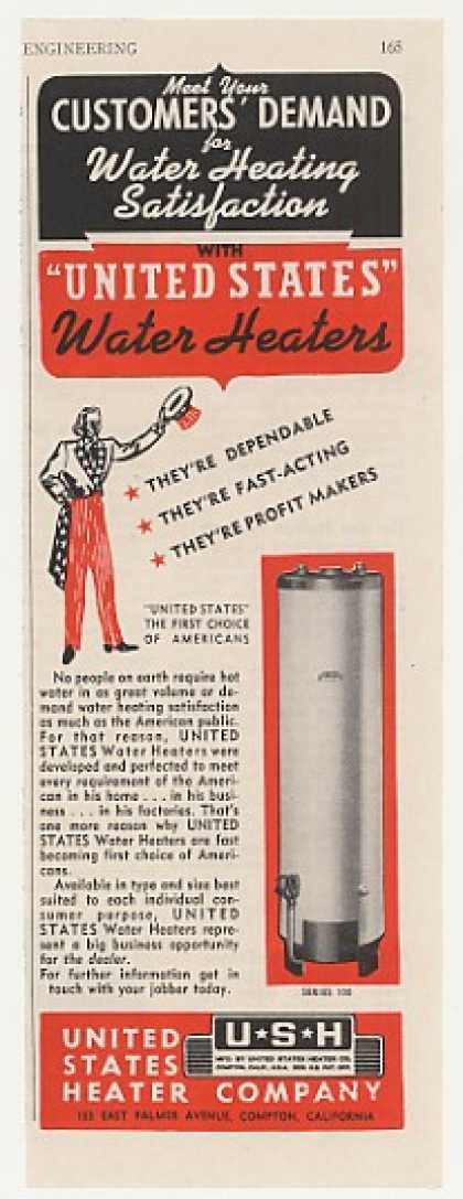 United States Heater Series 100 Water Heater (1947)