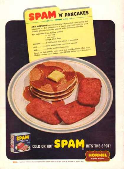 SPAM and Pancakes Hormel (1949)