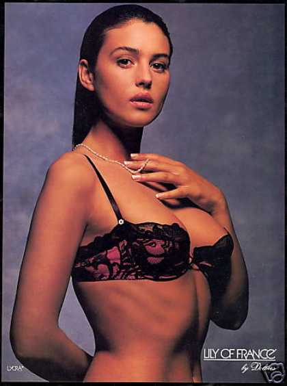 Lily of France Sexy Red Black Lace Bra Lingerie (1990)