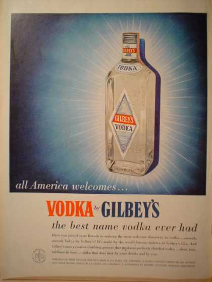 Gilbey's Vodka All America Welcomes (1957)