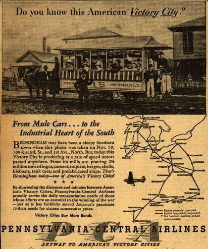 Pennsylvania Central Airline's War Transportation – Do you know this American Victory City? (1943)