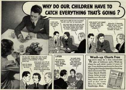 Lever Brothers Company's Lifebuoy Health Soap – Why Do Our Children Have To Catch Everything That's Going? (1937)