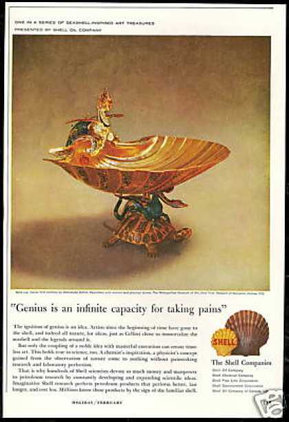 Cellini Gold Cup Photo Sea Shell Shell Oil Co (1960)