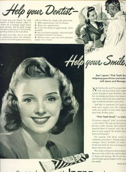 Ipana Tooth Paste – Pretty Woman C (1944)