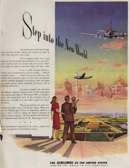 The Airlines of the United State's Air Travel – Step into the New World (1945)