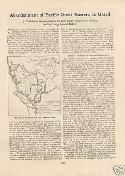 """""""Abandonment of P.g.e. Is Urged"""" Article (1922)"""