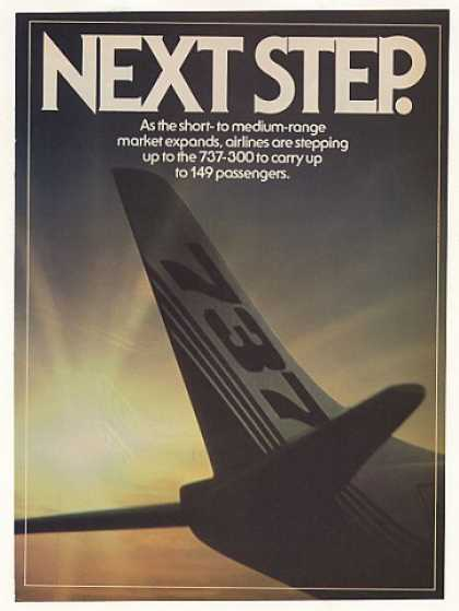 Boeing 737-300 Jet Airliner Aircraft 3-Page (1982)
