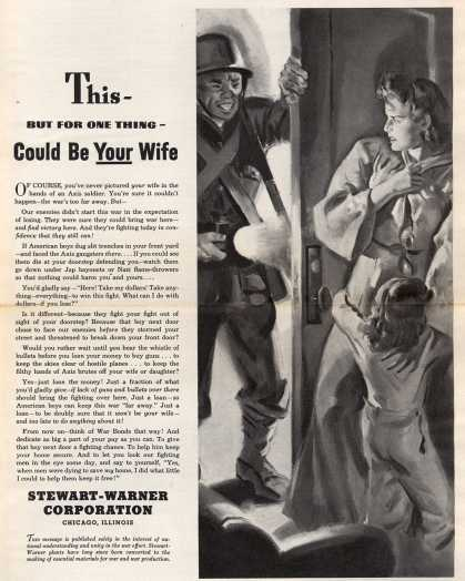 Stewart-Warner Corporation's War Bonds – This – But For One Thing – Could Be Your Wife (1943)