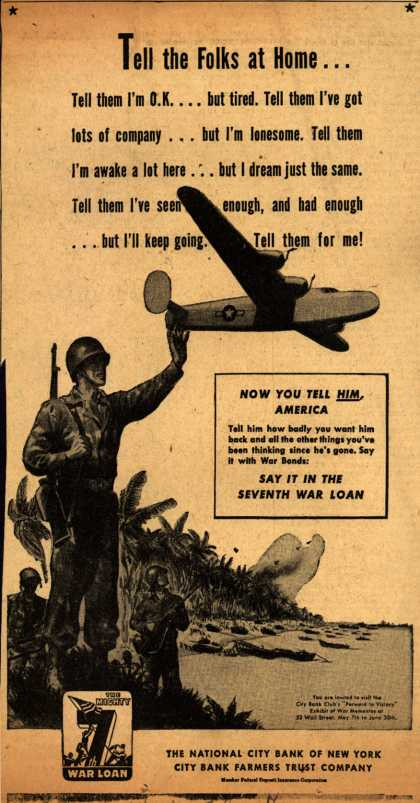 National City Bank of New York's 7th War Loan – Tell the Folks at Home... (1945)