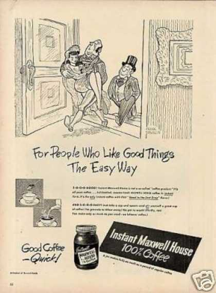 """Maxwell House Coffee Ad """"For People Who Like... (1948)"""