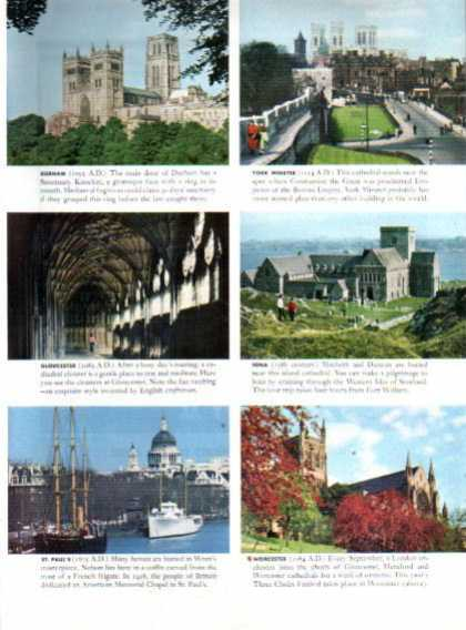 British Travel 10 Top Sublime Cathedrals (1963)