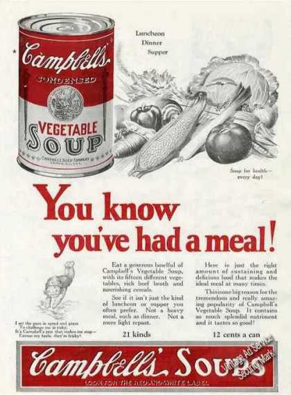 Campbell's Vegetable Soup Collectible (1924)