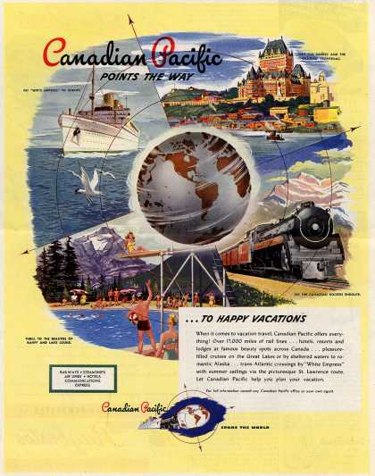 Canadian Pacific – Canadian pacific Points the Way ... To Happy Vacations (1947)