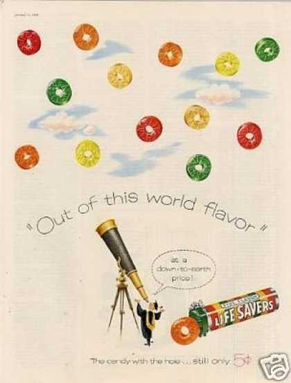 """Life Savers Candy Ad """"Out of This World... (1956)"""