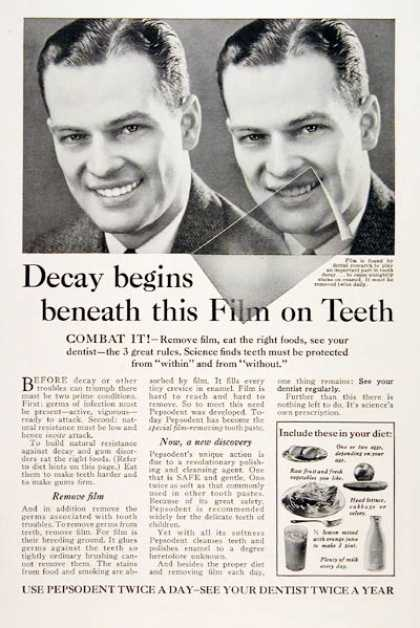Pepsodent Toothpaste #1 (1931)