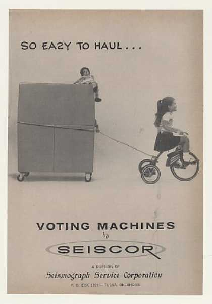 Seiscor Voting Machine Easy Haul Girl Tricycle (1964)