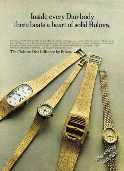 Christian Dior Collection By Bulova Wristwatch (1972)