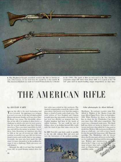 """""""The American Rifle"""" Magazine Photos and Article (1947)"""
